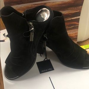 Black Suede Dolce Vita Mule Boots,New in Box fits9